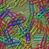 Paper clips seamless generated texture background Stock Images