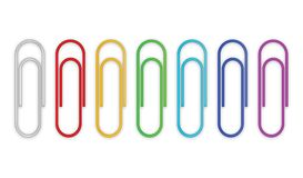 Paper clips set Stock Photo