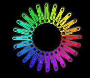 Paper Clips Wheel Stock Images