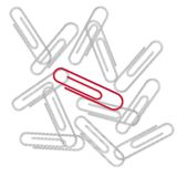 Paper Clips on the white Stock Photography