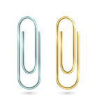 Paper clips  on white Royalty Free Stock Photo