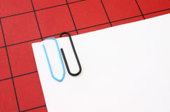 Paper Clips With Copyspace Royalty Free Stock Photography
