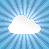 Paper cloud background Stock Image