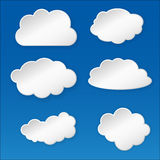 Paper cloud Stock Photo