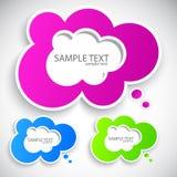 Paper cloud bubble for speech. Set royalty free illustration