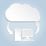 Paper cloud computing concept Royalty Free Stock Photography