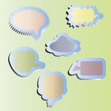 Paper cloud desires. Icons set. Vector. Royalty Free Stock Image