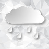 Paper cloud on geometric background Royalty Free Stock Photo