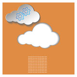 Paper cloud on an orange background. An idea for a business project royalty free illustration