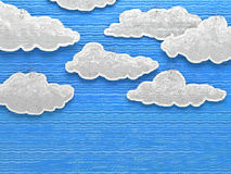 Paper cloud sky Royalty Free Stock Image