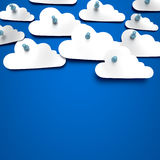 Paper cloud sky Royalty Free Stock Images
