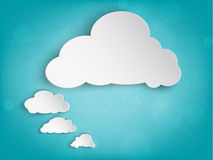 Paper cloud for your text royalty free illustration
