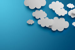 Paper Clouds. Abstract background composed of white paper clouds Stock Illustration