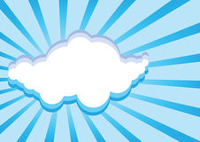 Paper clouds background Royalty Free Stock Photos