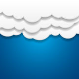 Paper Clouds Background Royalty Free Stock Photo