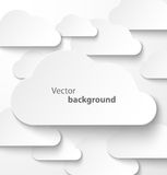 Paper clouds banner with drop shadows Royalty Free Stock Photos