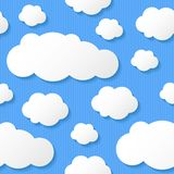 Paper clouds, vector eps 10 Stock Photos