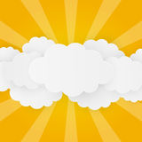 Paper clouds Royalty Free Stock Image