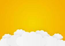 Paper clouds Stock Image