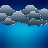Paper clouds over blue Stock Photos