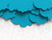 Paper Clouds polygonal design Stock Images