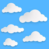 Paper clouds template Royalty Free Stock Image