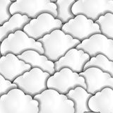 Paper clouds Stock Photography