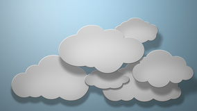 Paper clouds stock footage