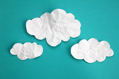 Paper clouds Royalty Free Stock Photography