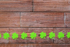 Paper clover leafs Royalty Free Stock Photos