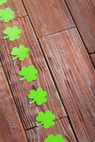 Paper clover leafs Royalty Free Stock Images