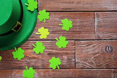 Paper clover leafs Royalty Free Stock Image