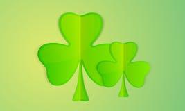 Paper clover leaves for St. Patricks Day celebration. Stock Photography