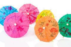 Paper cocktails parasols Royalty Free Stock Image