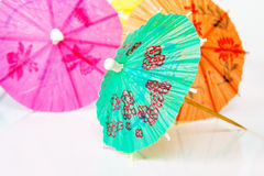 Paper cocktails parasols Royalty Free Stock Photography