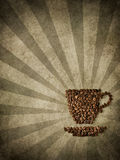 Paper and coffee Stock Photography