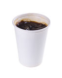 Paper coffee cup with coffe Royalty Free Stock Photo