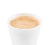 Paper coffee cup with coffe Royalty Free Stock Image