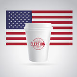 Paper coffee cup icon. Royalty Free Stock Photos