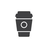 Paper coffee cup icon vector, filled flat sign. Solid pictogram isolated on white. Symbol, logo illustration. Pixel perfect vector graphics Stock Photos