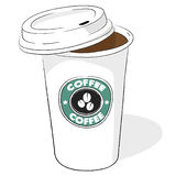 Paper coffee cup vector Royalty Free Stock Photography