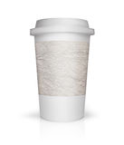Paper coffee cup illustration on white background Royalty Free Stock Photos