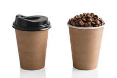 Paper coffee cup isolated on white Royalty Free Stock Photography