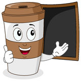 Paper Coffee Cup with Menu Blackboard royalty free stock images