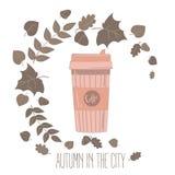 Paper coffee cup. Mug vector illustration Stock Image