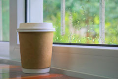 Paper coffee cup. Royalty Free Stock Photography