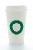 Paper coffee cup with plastic top Royalty Free Stock Image