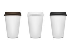 Paper coffee cup set Stock Photo