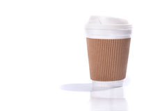 Paper coffee cup with sleeve Stock Images
