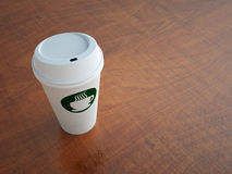 Paper Coffee Cup on Table Royalty Free Stock Images